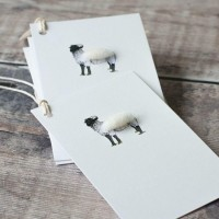 Gift Tags, with string - Norfolk Horn sheep