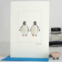 Penguins Macaroni 2 card