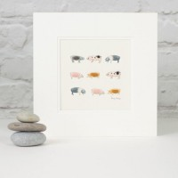Rare Breed pigs print