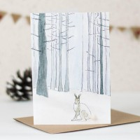 Hare Arctic woodland card