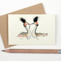 Mini Bird Great Crested Grebe card