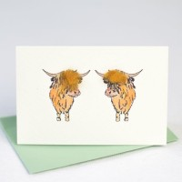 Cow Gift Card -  Highland cattle