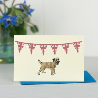 Mini Dog10C - Border Terrier Under Union Flags