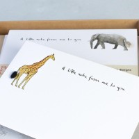 Notecards Elephant/Giraffe