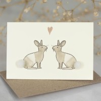 Mini Rabbits in love card
