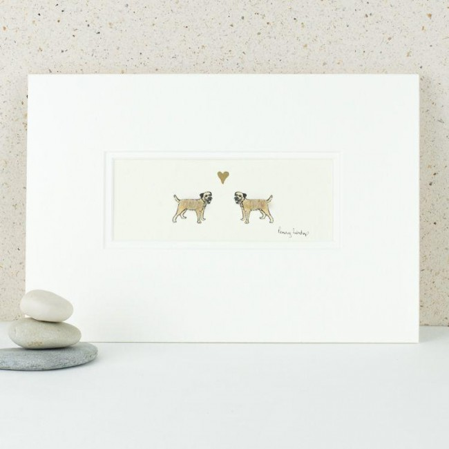A20E13 - Border Terriers in Love print