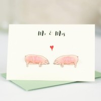 Mini Pigs Mr & Mrs card