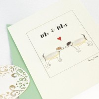 Jack Russell Mr & Mrs card