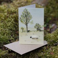 Mini Sheep in Middle Harling card