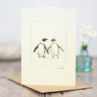 Penguins Jackass 2 card