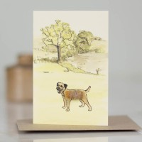Mini Dog10L - Border Terrier in parkland