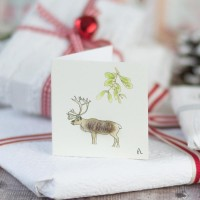 Christmas Gift Tag - Stag and mistletoe