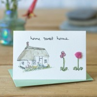 Mini New home thatched cottage card