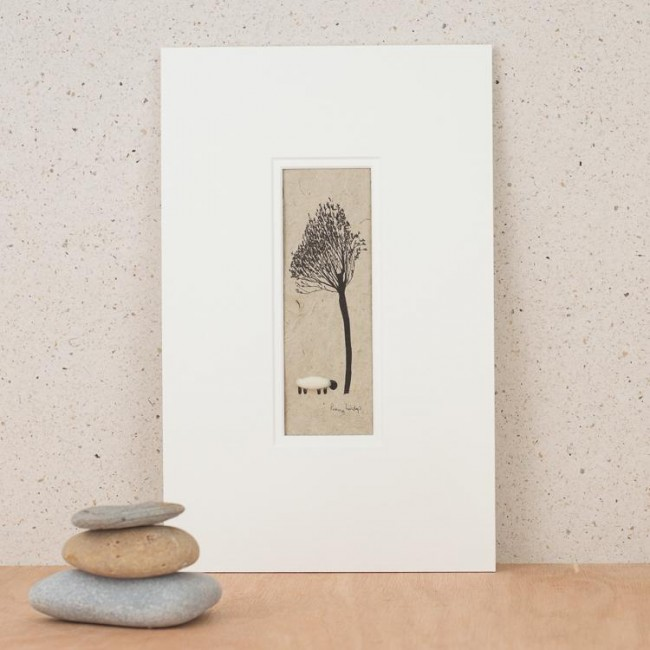 B10A35 - Sheep and Willow Tree