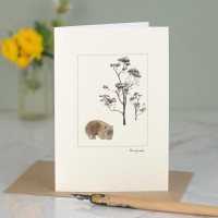 Wombat by tree card