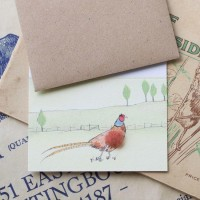 Pheasant in a landscape Gift Card