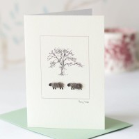 Sheep and tree card