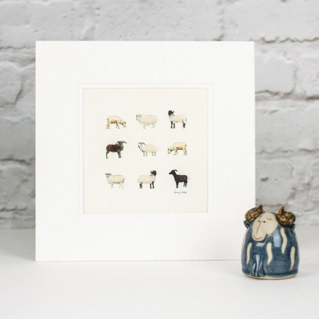 Rare breeds sheep print
