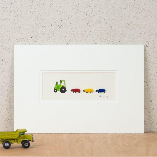 A22A20G - Green Nursery Tractor And Sheep