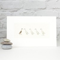 E14C10 - Indian Runner Ducks print