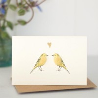 Mini Bird Yellow Wagtail card