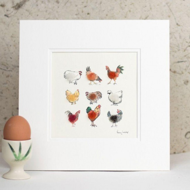 Lots of Chickens print