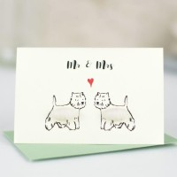 Mini Westies Mr & Mrs card