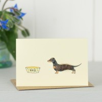 Mini Dog1E - Black And Tan Dachshund