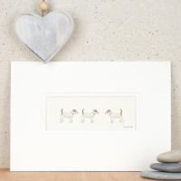 Print - 3 Jack Russell dogs