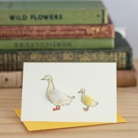 Mini Duck Aylesbury and duckling card