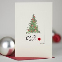 C083 - Cat Christmas Card