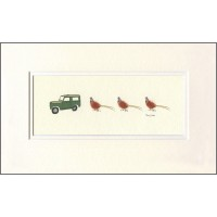 E16A27 - Land Rover And Pheasants print