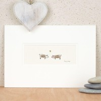 Pigs in Love print