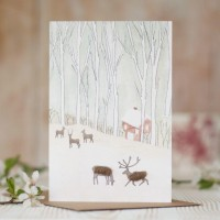 Deer woodland card