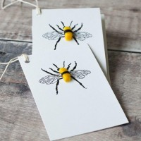 Gift Tags, with string - Bee