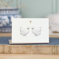 Chickens Gift Card - Silkies in love