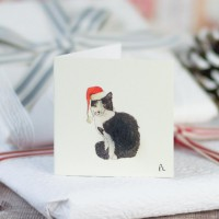 Christmas Gift Tag - Cat in a hat