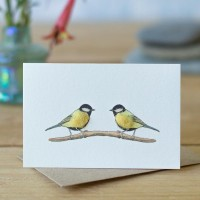 Mini Bird Great Tit card