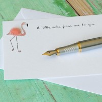 Notecards Flamingo