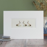3 Hares print