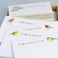 Notecards Birds Garden assorted