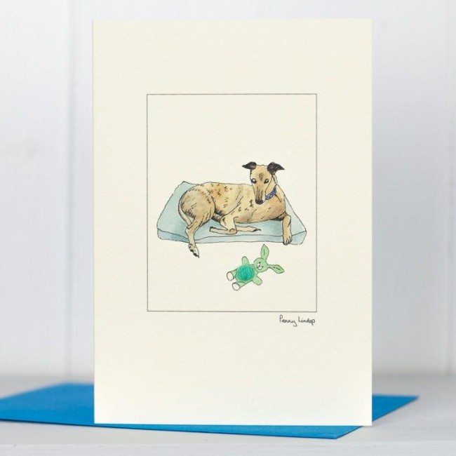 Greyhound resting card