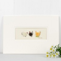 Buff Orpington and Pekin Bantams print
