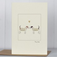 Jack Russells in love card