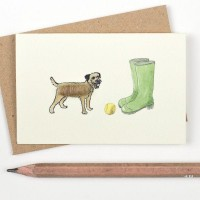 Mini Dog10H - Border Terrier and Wellies