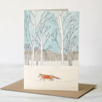 Fox woodland card