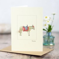 Donkey card - at the seaside