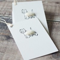 Gift Tags, with string - Westie
