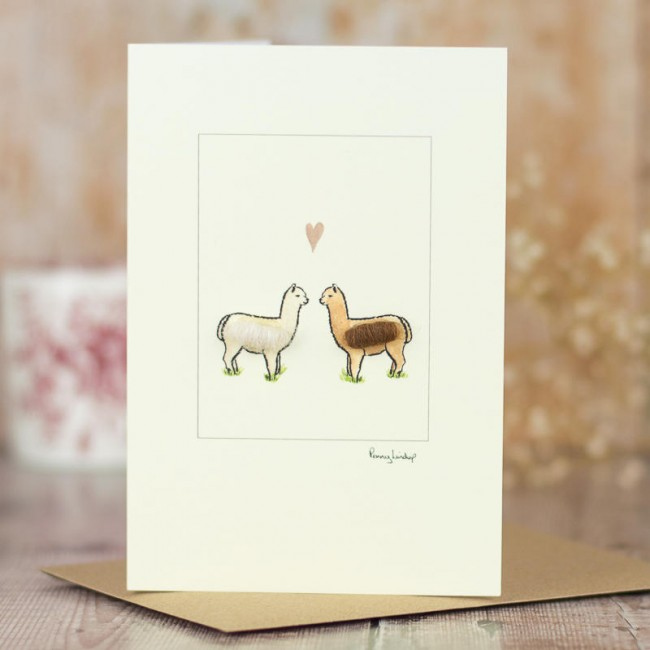 Alpacas in Love Card - 2 Alpacas in love
