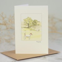 Jack Russell in parkland card
